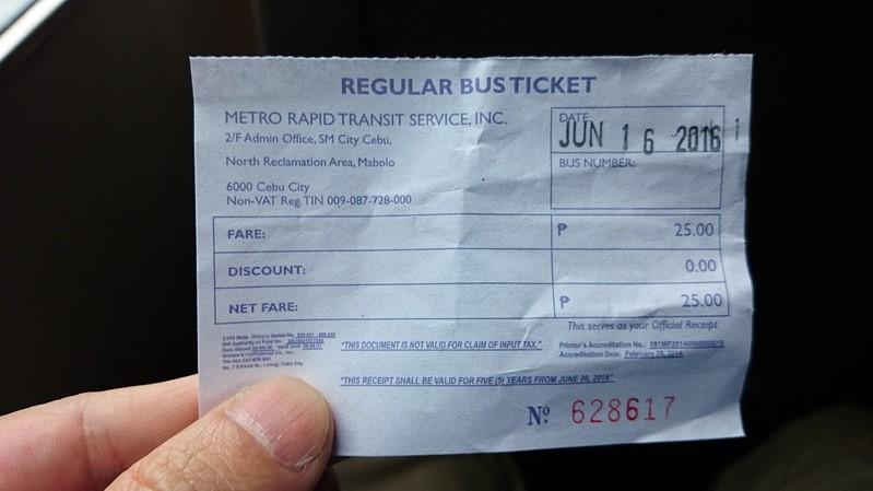 MyBusの乗車チケット