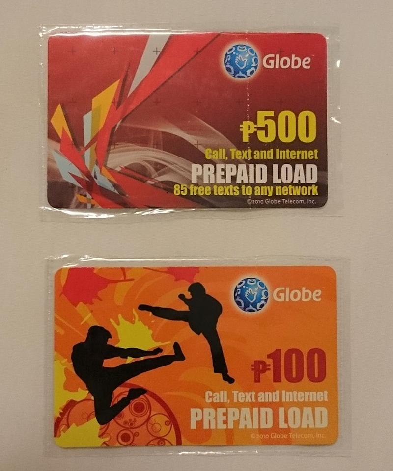 Globe用のプリペイドロード・カード
