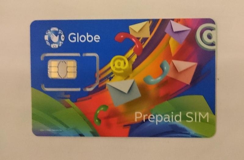 セブ・マクタン空港でゲットしたGlobe社のプリペイドSIMカード
