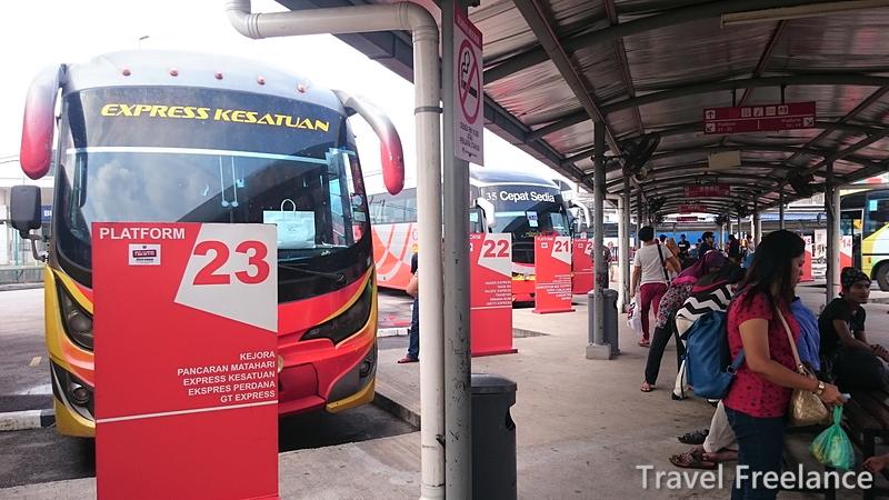 長距離バス「XPRESS KESATUAN」