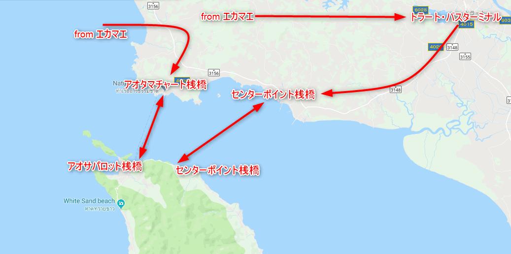 チャーン島へのフェリールート