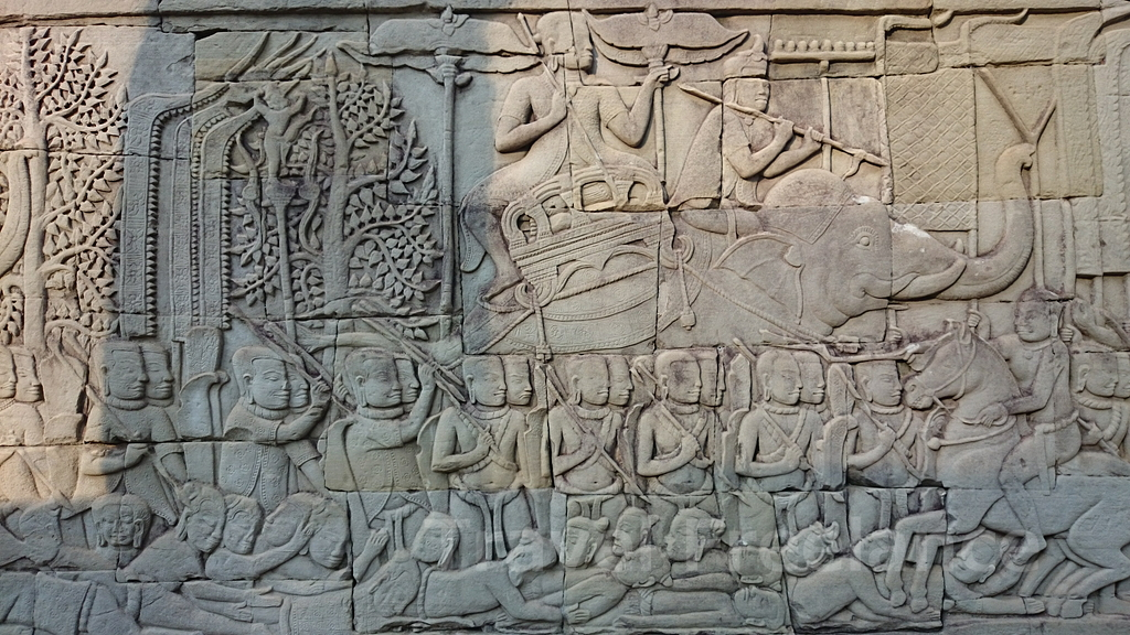 バイヨンの壁のレリーフ
