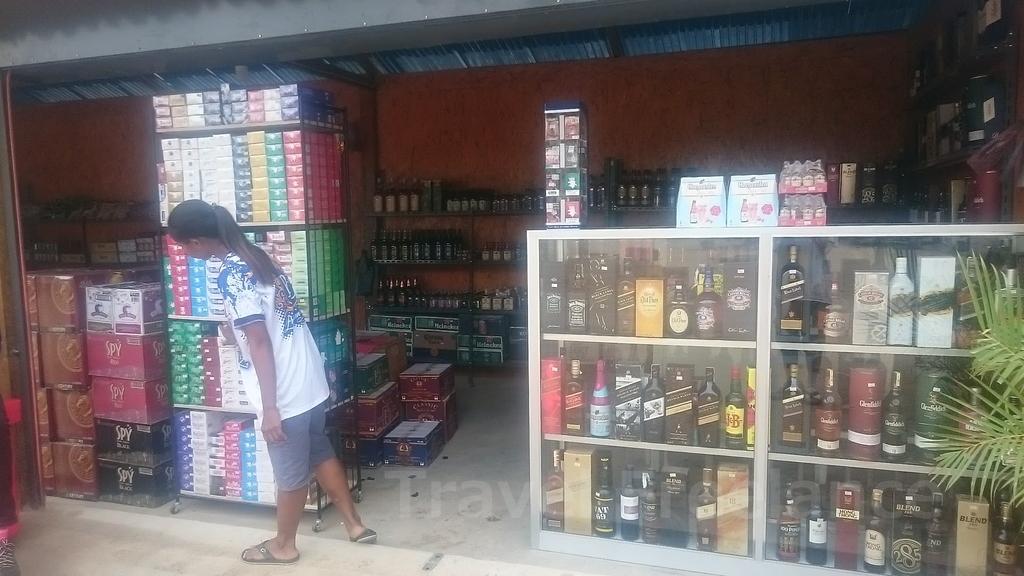 ティーキーにあるタバコやアルコール類を販売するショップ